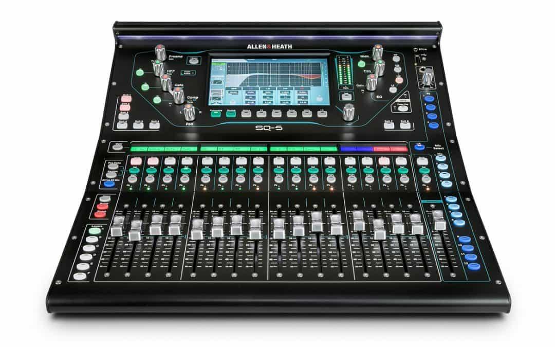 NEW EQUIPMENT – Allen & Heath SQ5 48 Channel Digital Mixing Desk
